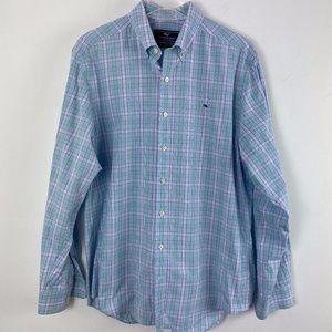 Vineyard Vines button down shirt men's slim fit M
